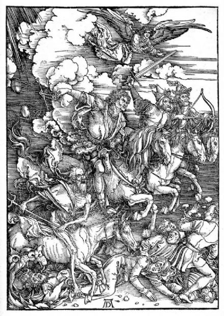 Durer, Albrecht: Four Horsemen of the Apocolypse. Fine Art Print/Poster. Sizes: A4/A3/A2/A1 (00161)